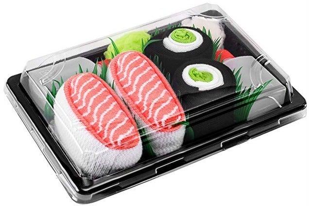 Rainbow Socks Sushi Sox Box