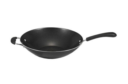 T-fal A80789 Specialty Nonstick Oven-Safe PFOA-Free Jumbo Wok Cookware, 14-Inch, Black.
