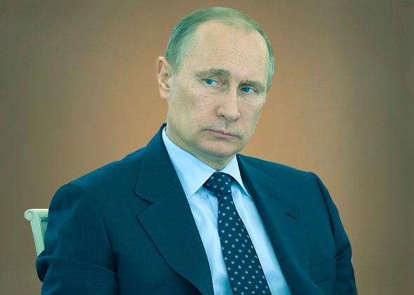 Russian President Vladimir Putin at the Kremlin in Moscow.
