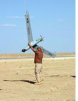 The ScanEagle unmanned aerial vehicle. Click image to expand.