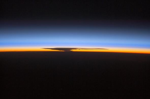 NASA photo reminds us to give thanks for Earth's beautiful, irreplaceable atmosphere.