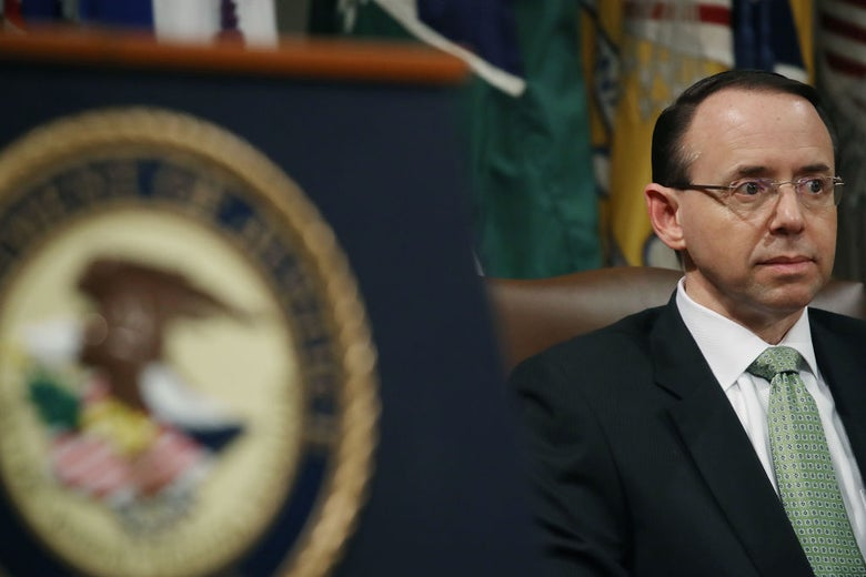 Deputy attorney general Rod Rosenstein on Feb. 2 in Washington, D.C.