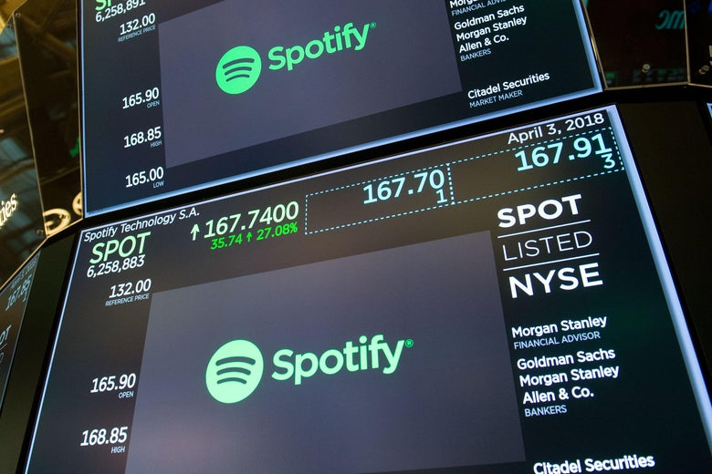 Spotify ipo opening price
