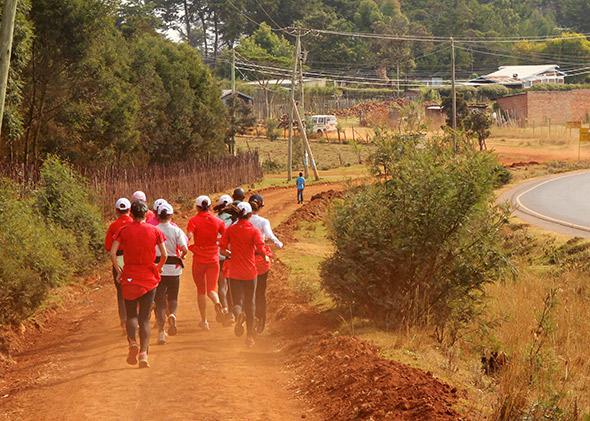 Chinese national team training in Iten.