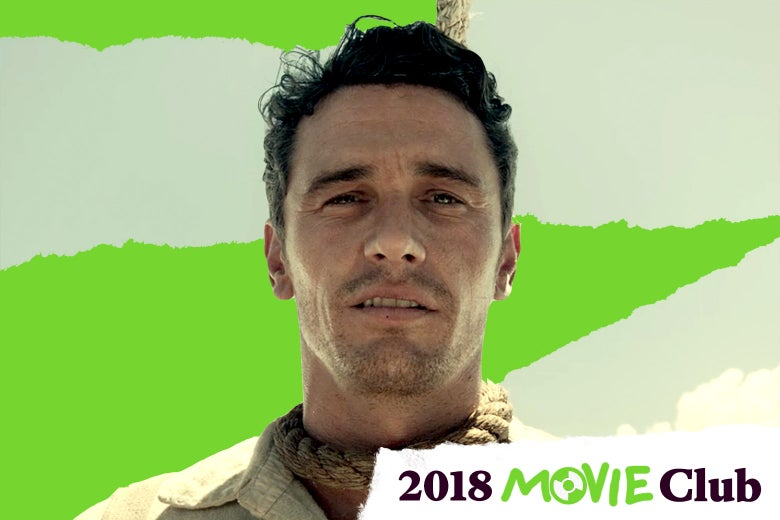 James Franco with a noose around his neck in The Ballad of Buster Scruggs.