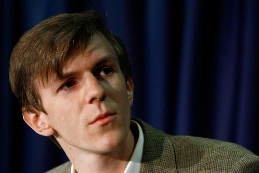 James O'Keefe takes part in a press conference at the National Press Club on October 21, 2009 in Washington, DC.