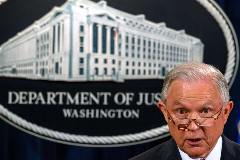 Attorney General Jeff Sessions speaks regarding the Deferred Action for Childhood Arrivals (DACA) program on September 5, 2017, at the Justice Department in Washington, DC.US President Donald Trump on Tuesday ended an amnesty that protected from deportation 800,000 people brought to the United States illegally as minors.