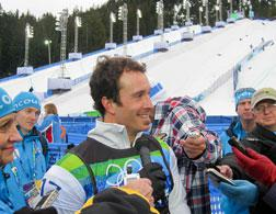American snowboard cross gold medalist Seth Wescott. Click image to expand.