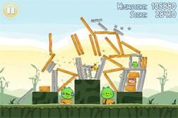 Screengrab of the game Angry Birds.