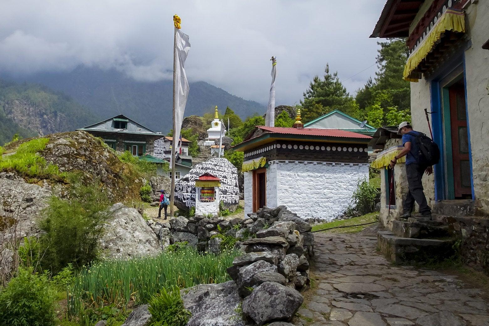 Ghat Village in the Mt. Everest region.