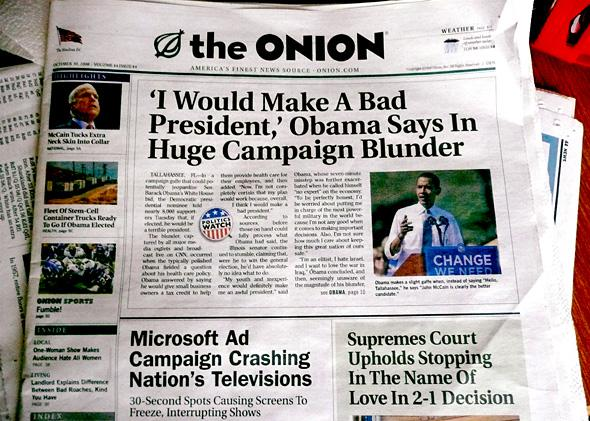 The Onion, in print