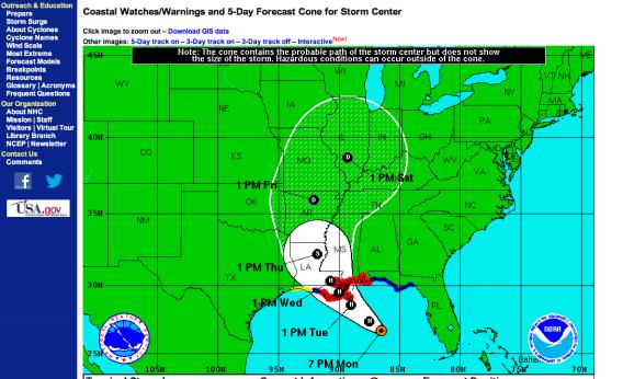 Hurricane Isaac tracking forecast