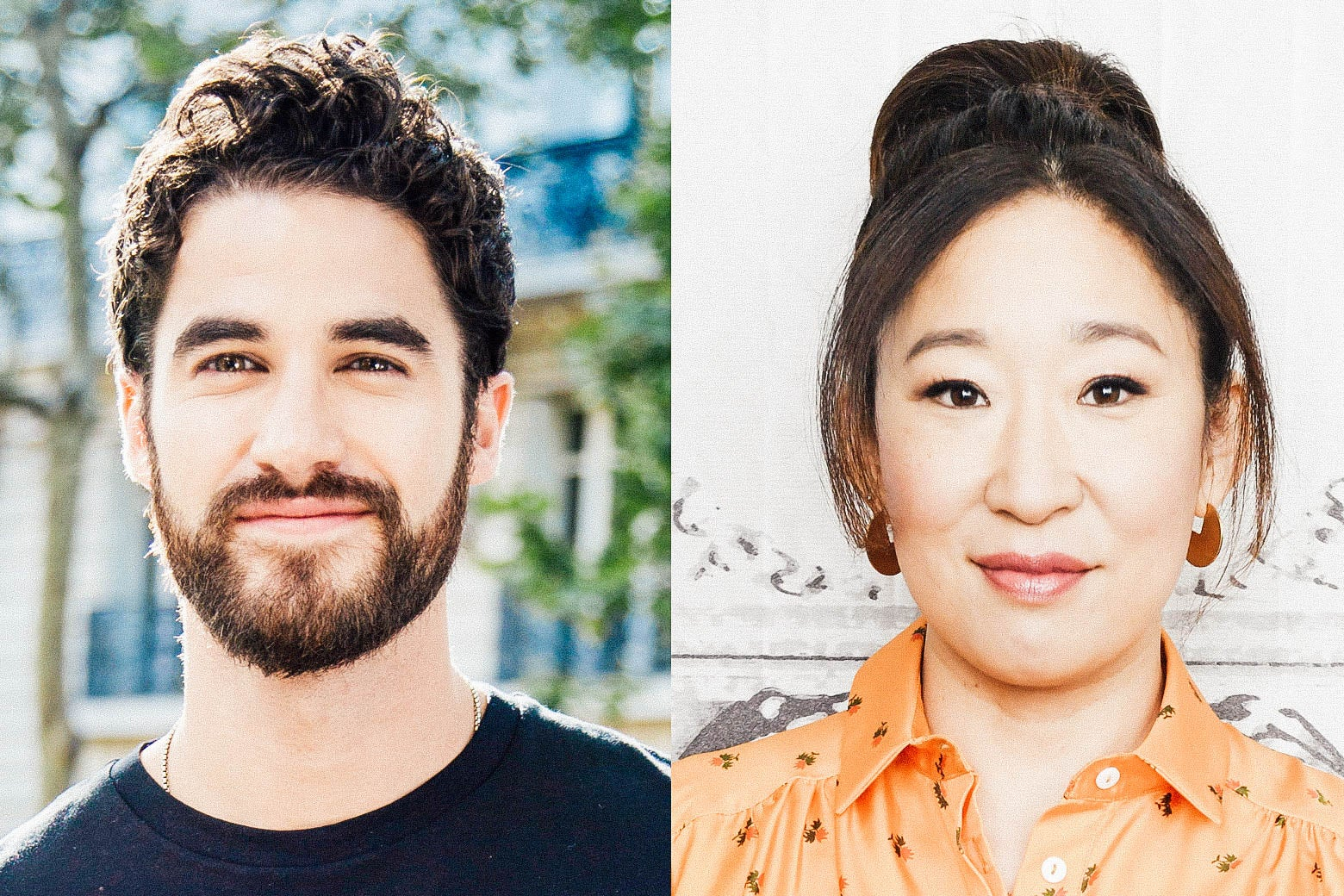 Darren Criss and Sandra Oh.