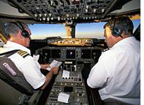 Airplane cockpit. Click image to expand.