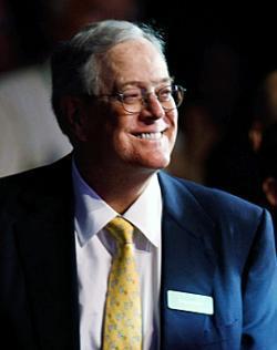 Koch Industries Executive Vice President David H. Koch.