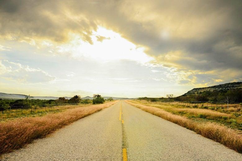 An open road.