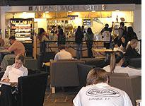 Students studying between classes in the student union. Click image to expand.