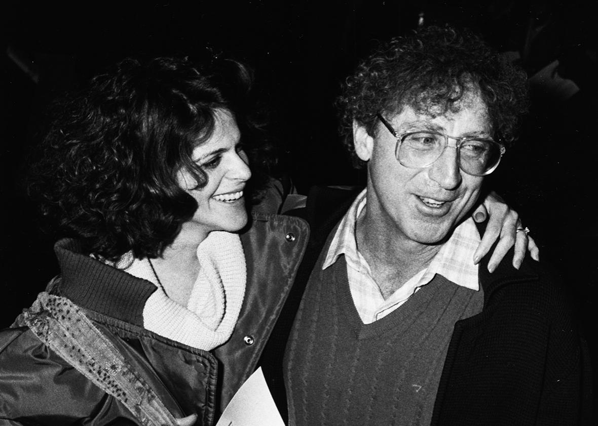 Comedians and spouses Gene Wilder and Gilda Radner attending the premiere of the new Woody Allen film 'Hannah and her Sisters', at the UA Coronet Theater in Los Angeles, January 16th 1986.