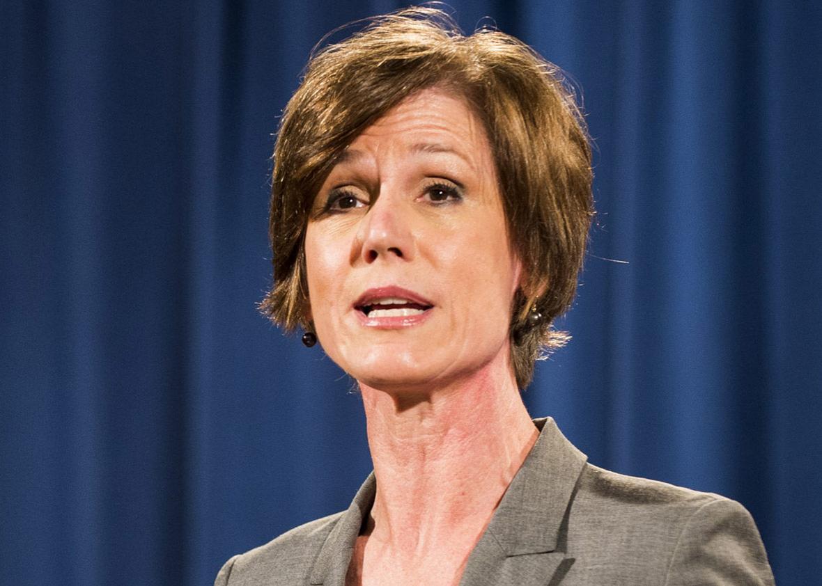 Deputy Attorney General Sally Q. Yates in 2016.