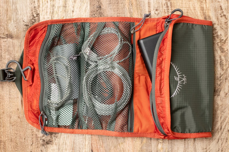 opened Osprey UltraLight Roll Organizer