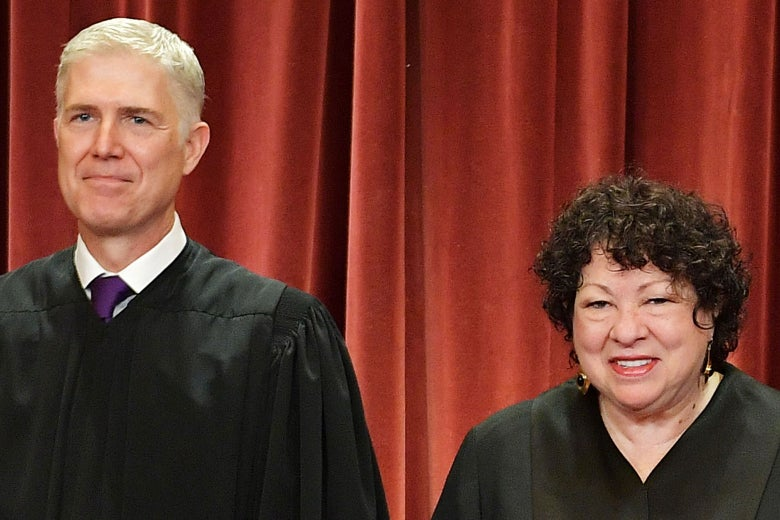 Supreme Court Justices Neil Gorsuch and Sonia Sotomayor