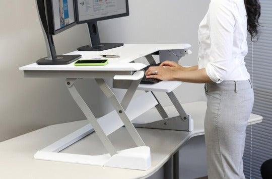 Ergotron desk converter.