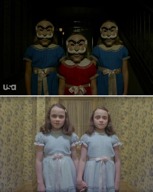 Top: Mr. Robot. Bottom: The Shining.