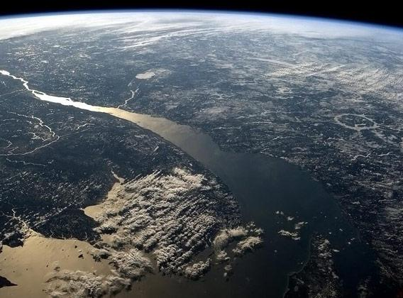 The St. Lawrence river from space