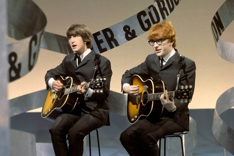 Gordon Waller and Peter Asher performing on TV.