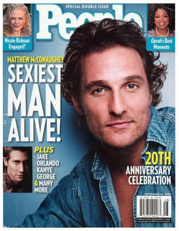 Matthew McConaughey Sexiest Man Alive
