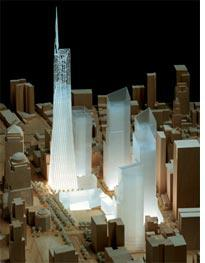 Model of Freedom Tower from the south