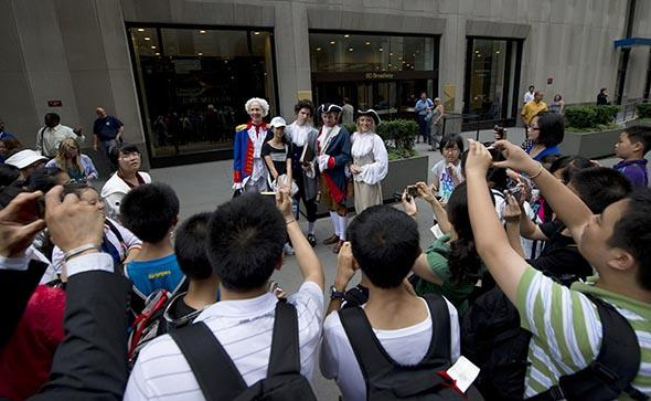 Chinese tourists in New York in 2010. The U.S. needs more of this.