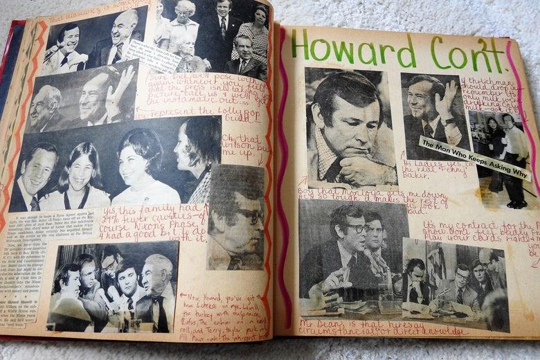 Watergate scrapbook, Howard.
