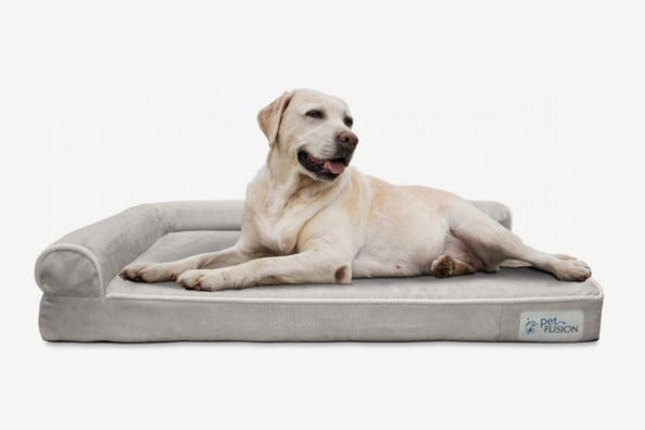 PetFusion Memory Foam Dog Bed with Waterproof liner & removable cover