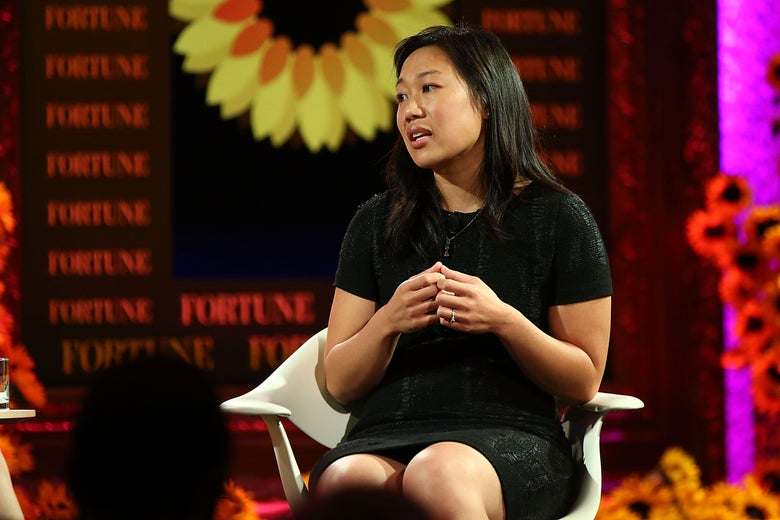This is a photo of the actual Priscilla Chan.