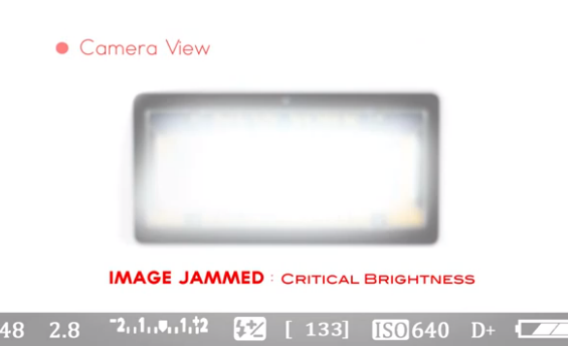 red-light camera flash