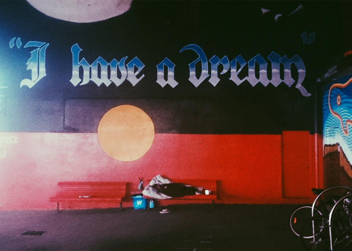 I Have A Dream Mural in Newtown, Sydney, Feb. 18, 2015.