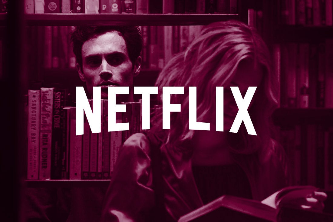 A still from You with the Netflix logo superimposed.