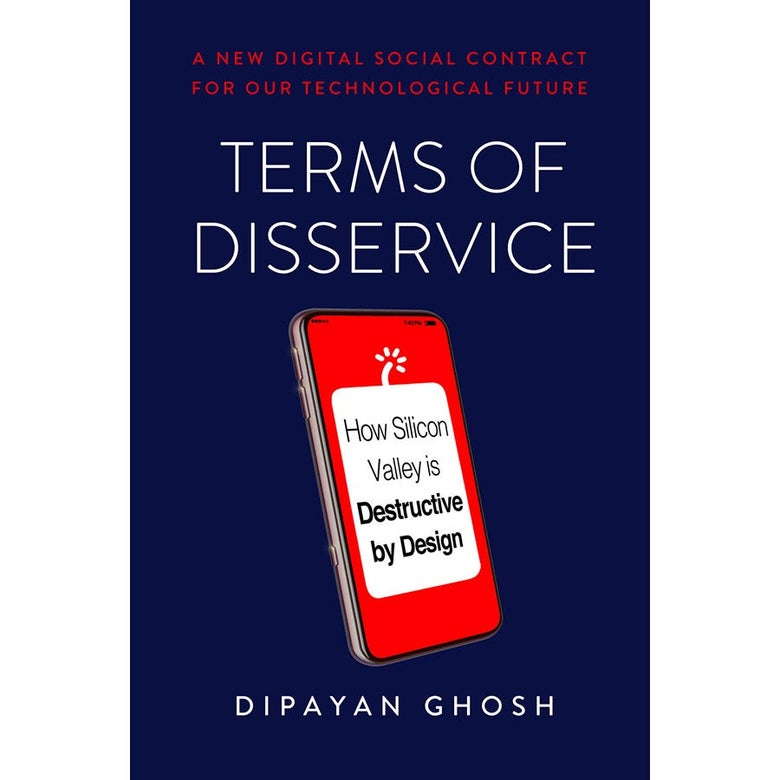 The cover of Terms of Disservice by Dipayan Ghosh.