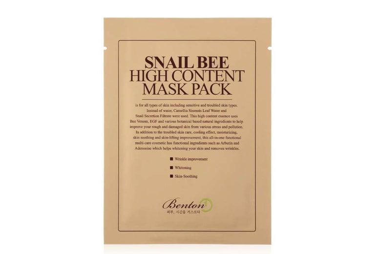 Benton Snailbee High Content Sheet Mask.