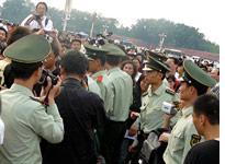 Men in uniform.