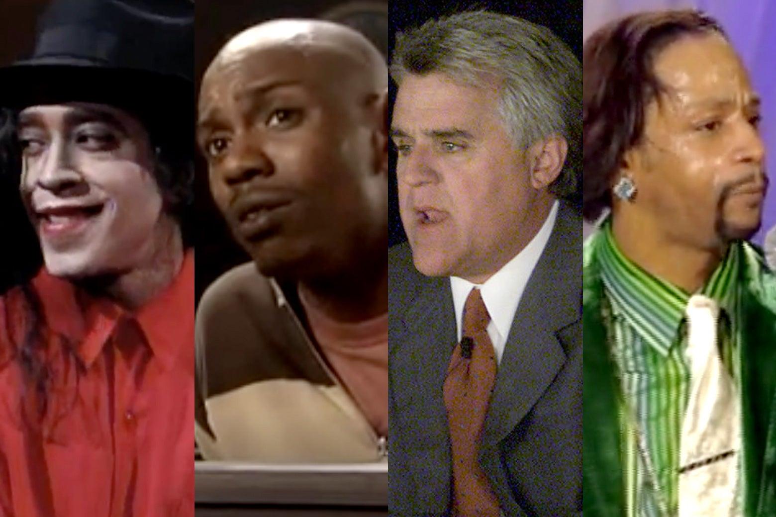 Tim Meadows as Michael Jackson, Dave Chappelle, Jay Leno, and Katt Williams.