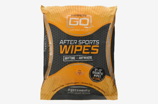HyperGo After Sports Wipes, Full Body Wipes, 20 Count.