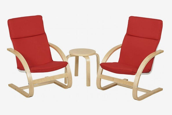 Natural Bentwood Children's Table and Chair