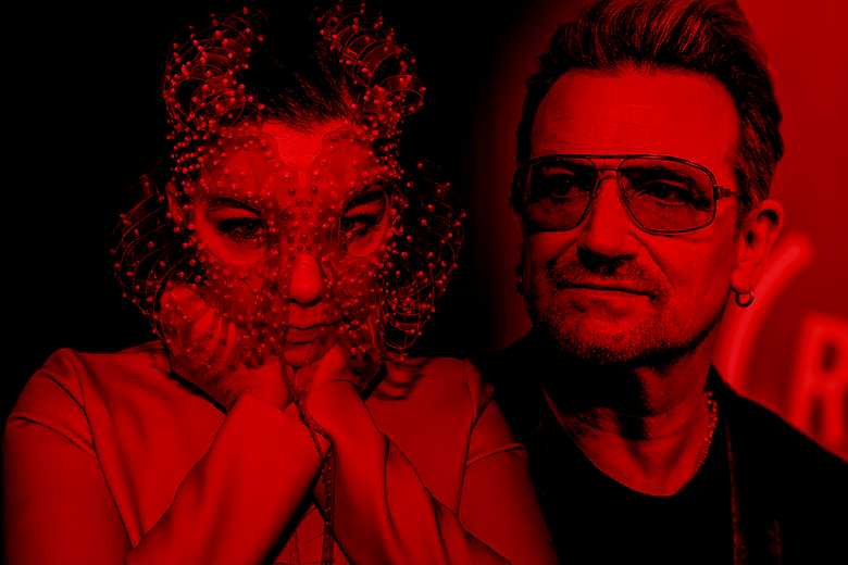 Björk is all journey, all process, and U2 is all outcome, all destination.