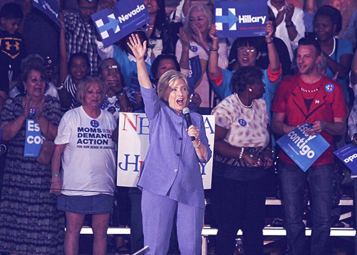 Democratic U.S. presidential hopeful Hillary Clinton