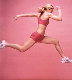 Kim Strother, leaping. Click image to expand.