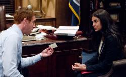Damian Lewis and Zuleikha Robinson in Homeland.