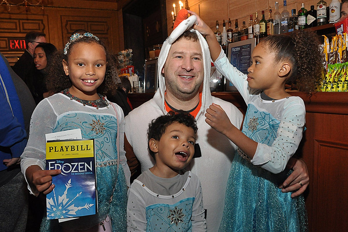 Audience members of the autism-friendly performance of Frozen on Broadway.