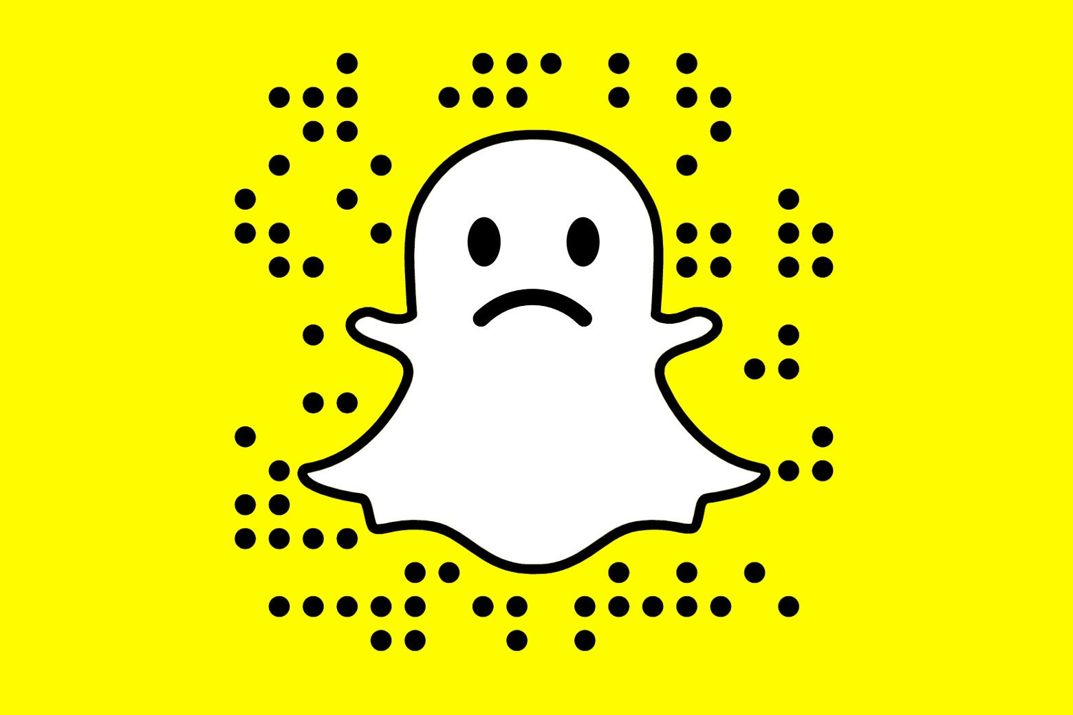 A sad Snapchat ghost.
